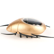 Novelty Kid Solar Energy Powered Spider Power Robot Beetle Grasshopper Educational Gadget Toy For Children(China)
