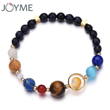New Drop Shipping Stone Bracelet Universe Galaxy the Eight Planets in the Solar System Guardian Star Bracelet for Women Men Gift(China)