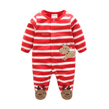 2017 autumn winter baby infant Rompers boys clothes pattern newborn girls sleepwear kids apparel children Christmas clothing