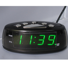 Big numbers Digital Clock 0.9'' inches large display clock EU Plug AC Power Alarm Clocks electronic desktop Digital table Clocks(China)
