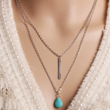 2016 High Quality Resin Necklace Bohemian Vintage Antique Silver Statement Necklace Tassel Jewelry Long Necklace Female X29