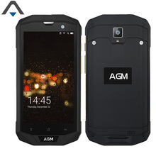 Original AGM A8 3+32G/4+64G Quad Core 5 inch samrtphone 4050mAh 13MP 720P HD Android 7.0 NFC waterproof Shockproof cell phone(China)