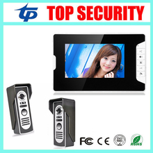"Good quality 7"" color video door phone wired village video intercom video door bell optional RFID card reader access control(China)"