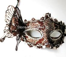 Wholesale Price 10 pc/lot Halloween Masquerade half face mask Venetian mask powder princess dimensional butterfly mask 4014