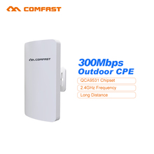 2pc COMFAST Outdoor Long range wifi signal booster/amplifier 2.4Ghz 300M 11dBi mini Wifi Receiver ap bridge cpe for ip cam proje