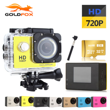 GOLDFOX 720P HD Action camera deportiva 1.5 Inch LCD Sport DV Camera Go waterproof Pro Bike Helmet Mini Cam with retail Packing