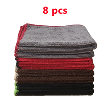 "8 Pcs 12""x12"" Absorbent Microfiber Dish Cloth Kitchen Towels Micro Fiber Cleaning Cloths Wiping Dust Rags 4 colors(China)"