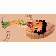 Free shipping Super Soft Betty Boop printed bamboo fiber bath towel for children toalla playa kids beach towel 70*140cm