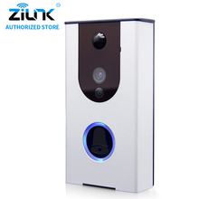 ZILNK Battery WiFi Doorbell Cloud Storage Video Doorphone PIR Night Vision Video Intercom Support TF Card Waterproof Silver