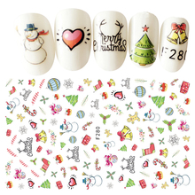 1 Sheet Beauty Christmas Style Nail Stickers 3D Nail Art Decorations Manicure DIY Tools For Charms Nails