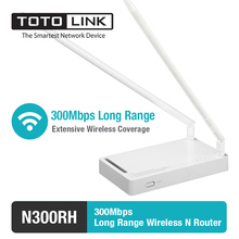 TOTOLINK N300RH 300Mbp Wireless N High Power Long Range Router/Repeater with 2*11dBi Detachable Antenna , English Firmware(China)