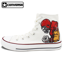 Original Skateboarding Shoes Sneakers Men Brand White Converse Design Rugby Player Football Hand Painted Canvas Shoes