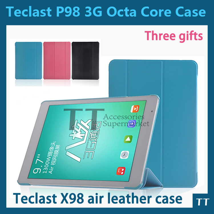 PU Leather Protective Case cover For Teclast P98 3G Octa Core,X98 air,X98 air 3g,X98 air II 9.7inch Tablet PC+3 gifts<br><br>Aliexpress