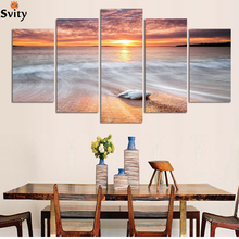 Free shipping home decoration wall art painting of Seascape artwork for living room Modern home wall decor painting canvas art