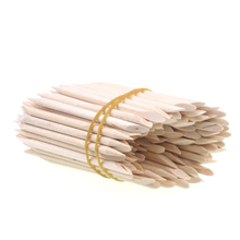 Free Shopping 100pcs Nail Art Orange Wood Stick Cuticle Pusher Remover for Manicures(China)