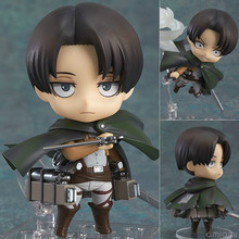 Attack on Titan Levi Ackerman Rivaille Nendoroid Action Figure Toys Collection Christmas Toy Doll