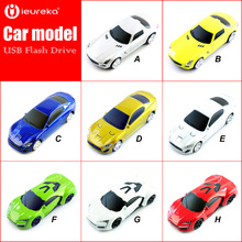 New mini Car sports cars USB Flash Drive cool gift for boys pendrive 64GB/8GB/16GB/32GB Wholesale famous car brand memory stick(China)