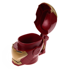 Kitchen Accessories Iron Man 3D Water Cup Black Eyes ABS Plastic High Quality Kitchen Drinkware Mugs for Kids Birthday Gift