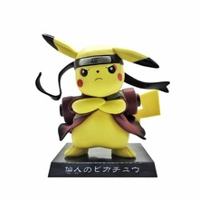 15CM Pikachu Cosplay Naruto Uzumaki Naruto Cartoon Anime Pocket Action Figure PVC toys Collection figures for friends gifts(China)