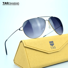 New sunglasses 2017 titanium sunglasses women men TAG brand designer Retro Driving sun glasses oculos de sol feminino fashion(China)