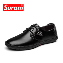 Buy SUROM Fashion Men Leather Shoes Lace Fashion Male Lace Dress Shoes Black Brown Color Krasovki Tenis Masculino Adulto for $25.01 in AliExpress store