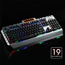 Wired 104Key Metal Gaming Keyboard RGB Backlit Keycap Mechanical Keyboard Feeling Non-Conflict Computer Game Keyboard For PUBG(China)