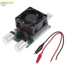 35W 3V-21V Adjustable USB Load Battery Discharge Capacity Tester w/Cooling Fan 828 Promotion(China)