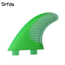 New environmentally friendly materia with fiberglass honey comb materia FCS surfboard fins  fot surfing fin (Tri-set) SIZE M
