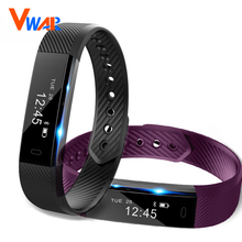 ID115 Smart Bracelet Fitness Tracker Step Counter Fitness smart Band Alarm Clock Vibration Wristband for IOS xiaomi fit bit 2