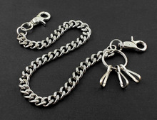 "Simple Thick Biker Trucker Keychain Key Jean Wallet Chain CS124 (19"") Silver YL-34(China)"