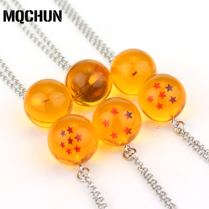 New Anime Dragon Ball Z Pendant Necklace Cosplay Party Xmas Jewelry Gift 7 Stars