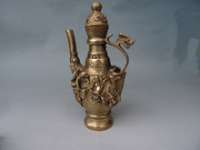 The Qing Imperial leading antique copper pot Shui bronze flagon eight ornaments collection gifts