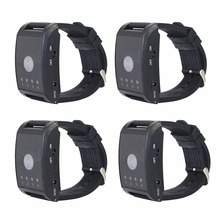 4Pcs 433MHz 4 Channel Wireless Watch Calling Receiver Call Pager System for Hospital Waiter Nurse F4411A