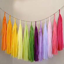 5pcs/lot Decoration Accessories 14 colors Paper Tassels Garland Wedding Birthday Party Decoration Home Wedding Party Supplies