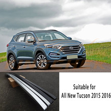 ABS Sticker Type Fit for Hyundai All new Tucson 2015 2016 2017 Baggage Luggage Roof Rack Bar Rails