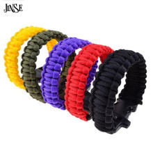 JINSE Outdoor Sport Camping Hiking Survival Bracelet Cord Wristband Emergency Rope Military Emergency Survival Bracelet ST002