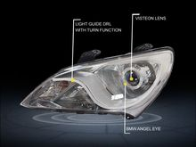 Guangzhou SANVI Bi Xenon Car Headlight Assembly for Hyundai Elantra 2011-2015 Hi-Low Beam Projector Lens with hid headlight bulb