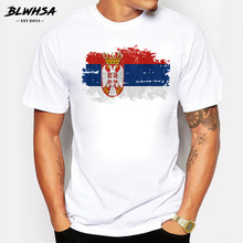 Buy BLWHSA Nostalgic Style Serbia National Flag Printed T Shirt Men Summer Short Sleeve Cotton Men T-shirt Round Neck Fitness Tops for $9.96 in AliExpress store