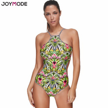 Buy JOYMODE Sexy One Piece Swim Bikini Summer Bikini wear Women Bikini Green Print Sexy Swim Bodysuit Bathing Suit Bikini Muje