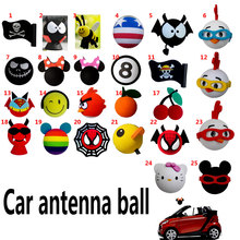 2016 bee Mickey jack flag Antenna Balls For Car Aerial Decoration Cute Funny Cartoon Foam Ball Cars Lovely Exterior FPV Topper