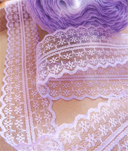 30colors Width 45mm 14yard Embroidered Net Lace Trim fabric Garment ribbon headband Wedding decoration party gift DIY Accessorie