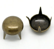 "300PCs Bronze Tone Round Dome Spike Rivet Studs Spots For Clothing 8.5mm(3/8"")(China)"