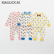 XiaGuoCai spring & summer 2017 Top Quality sets Newborn suits baby underwear air conditioning Tracksuit children clothes l211 35(China)