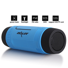 Hot Portable Speaker Caixa de Som FM Radio Enceinte Altavoz Bluetooth Speaker Mini USB Speaker Power Bank Flashlight SOS TF Card