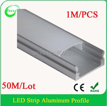 50pcs/lot LED Aluminum Profiles with PC Cover LED Light Bar for led strip profile Length can be customized