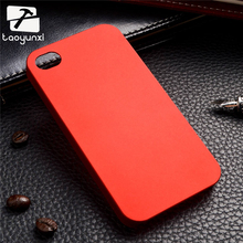 TAOYUNXI Cellphone Case Cover For Iphone 4 Matte Cases for Apple iPhone 4 4G 4S 44S 3.5 inch Covers Skin hybrid shell Ruber