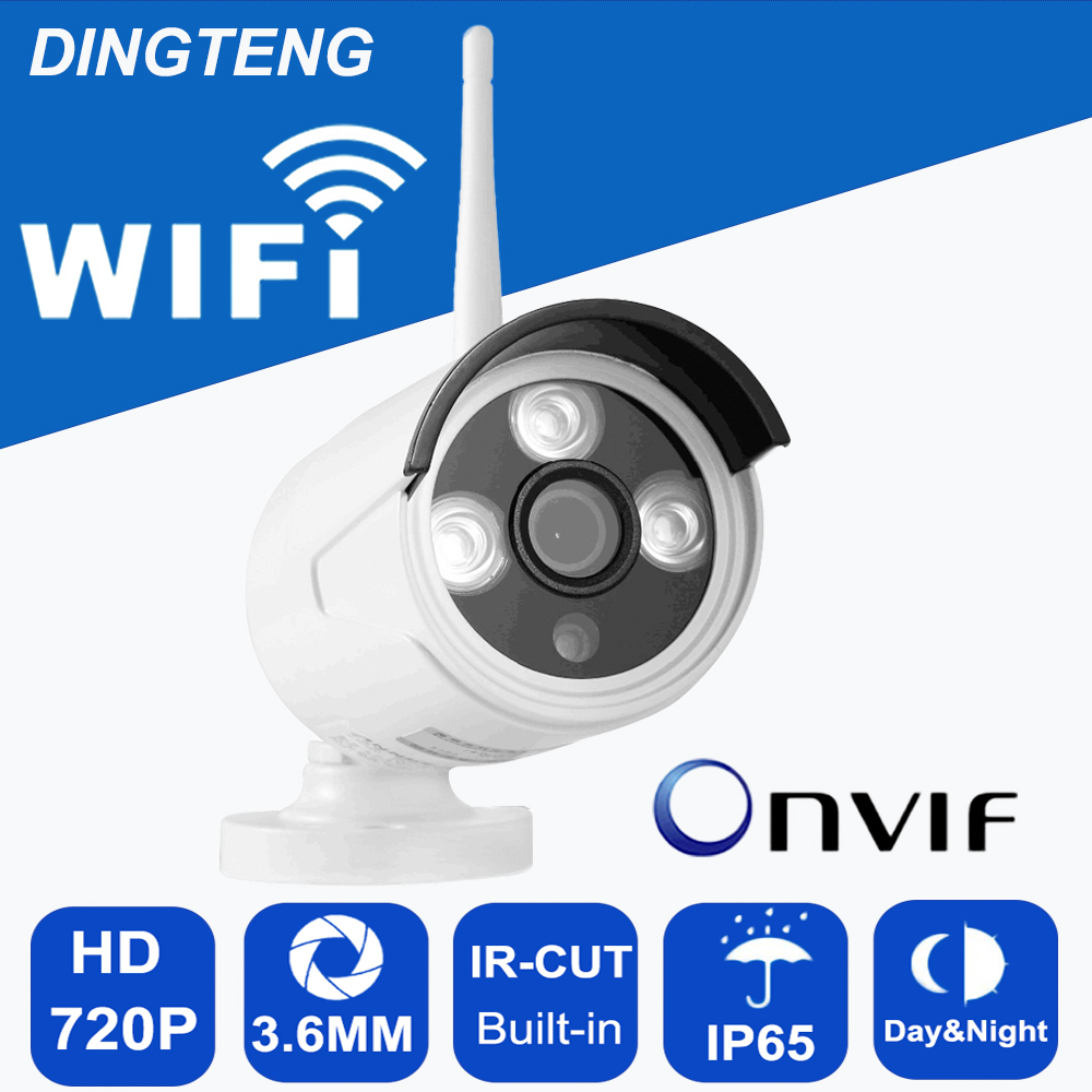 720P 1M IP Camera wifi Outdoor IR Cut Infrared LED Onvif TF micro-SD slot Remote Access from Android iOS PC Web waterproof ip65<br><br>Aliexpress