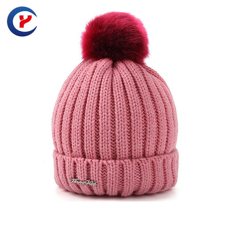 2017 Fashion Creative new year Gift women pompon winter skiing thick adult beanies outdoor winter knitted women hat #x45Одежда и ак�е��уары<br><br><br>Aliexpress