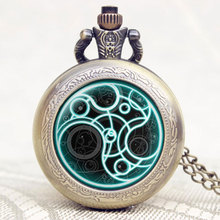 Hot Item Doctor Who Series Pocket Watch Chain High Quality Quartz Watch Gift for Men Boy Gift P1141-2