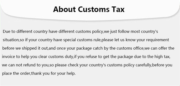 about customs tax